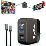 Switch Dock Charger Adapter for Nintendo Switch, Portable Replacement Switch Dock for Original Dock Set, HDMI AC Adapter with