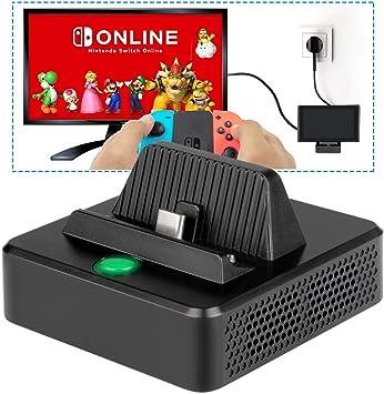 Base de Carga para Nintendo Switch- innoAura Base de Carga Portátil para Reemplazo con Estructura de Enfriamiento, Puerto de Carga USB C, USB 3.0 y Puerto HDMI para Nintendo Switch: Amazon.es: Electrónica