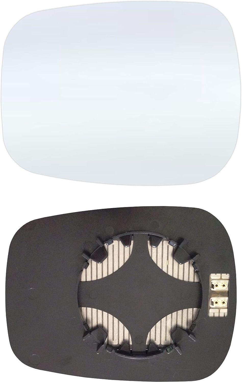 Links Fahrerseite Spiegelglas mit Platte und Heizung #AM-RTKO01-LCH