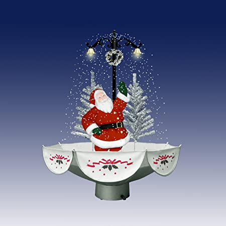 christmas concepts 75cm snowing christmas character decoration santa scene with trees indoor christmas