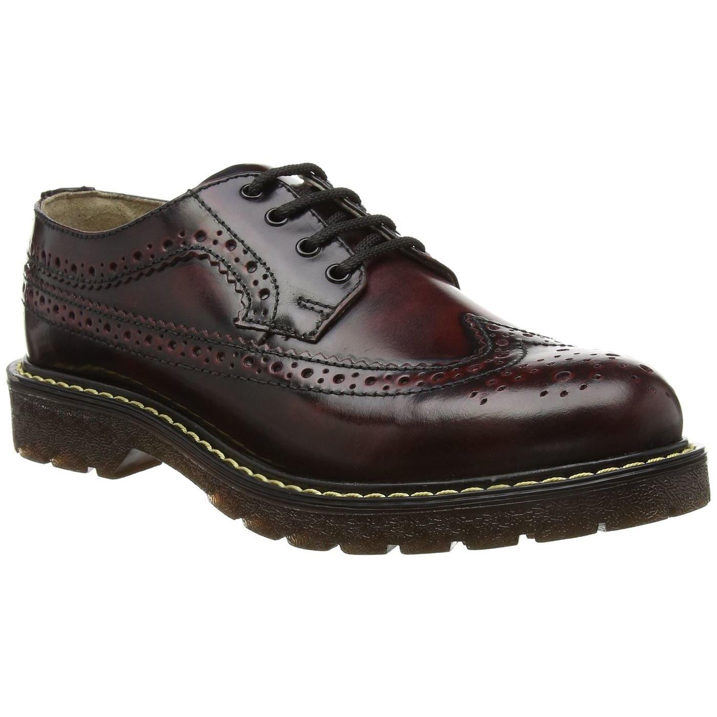 TALLA 41 EU. Grinders Bertrum, Zapatos de Cordones Brogue para Hombre