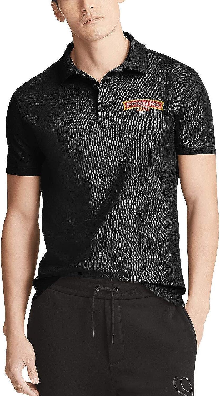 Mens Short Sleeve Polo T-Shirt Pepperidge-Farm-Logo Classic Linen Distressed Online T-Shirt