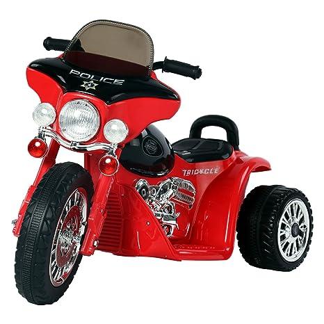7ef0dd9813300 HOMCOM Moto Eléctrica Infantil Coche Triciclo Correpasillos a Batería Niños  3-8 años 6V Metal
