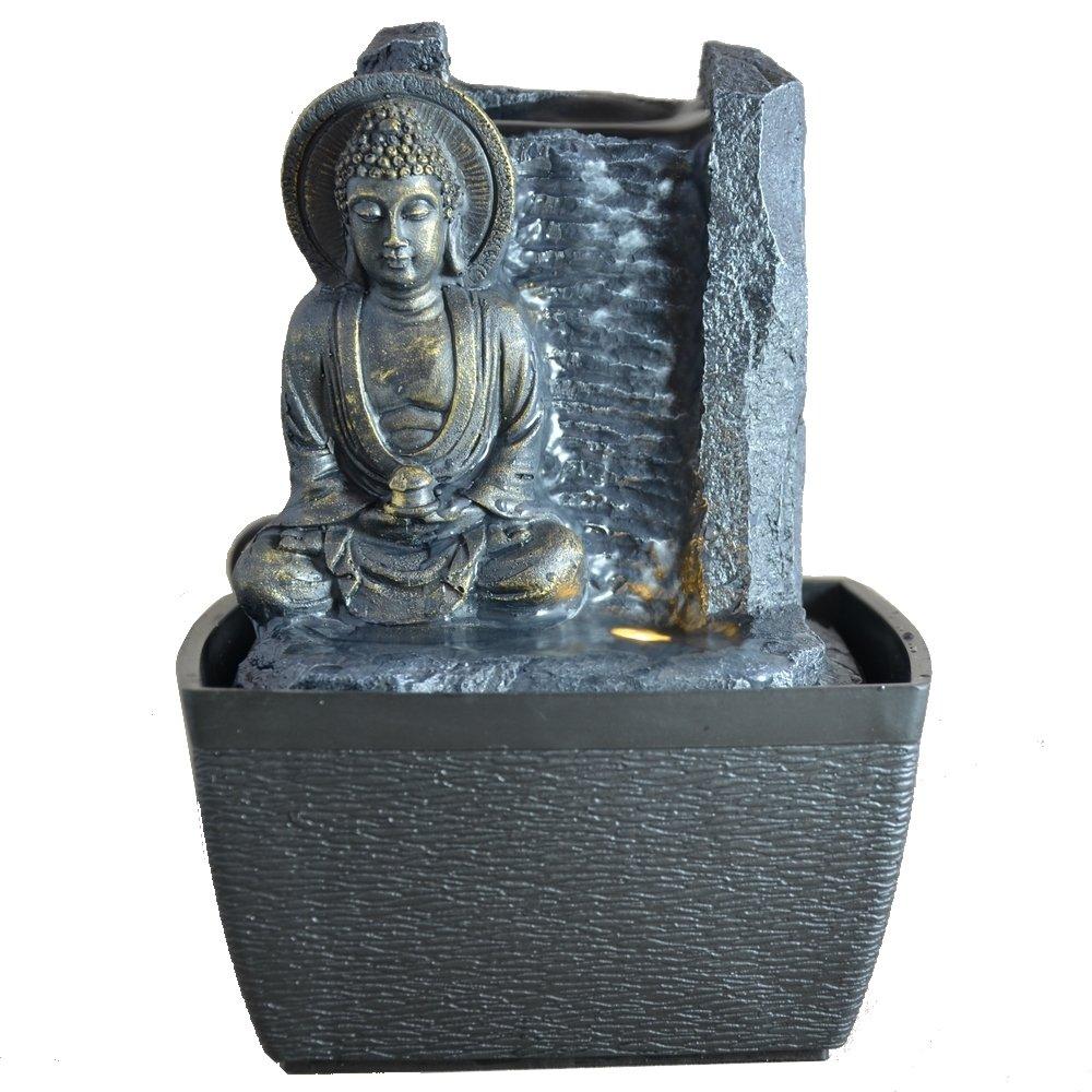 Zen Arôme - Feng Shui Serenity, Fontanella per interni con LED, 18 cm Zen Light SCFRPB6