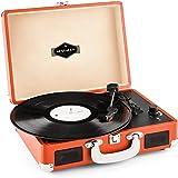 auna Peggy Sue tocadiscos retro (USB, altavoces estéreo integrados, salida RCA, digitalizador LP) - naranja