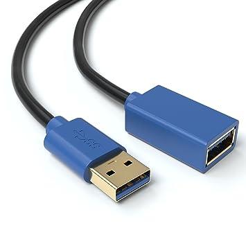 Verlängerung USB 2.0 A Stecker A Buchse 3,0 m schwarz Länge