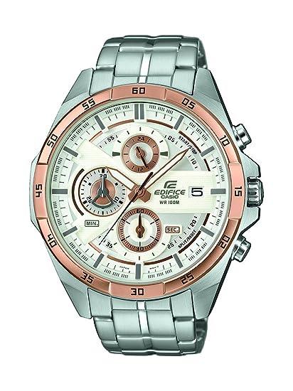 Casio Reloj Cronógrafo para Hombre de Cuarzo con Correa en Acero Inoxidable EFR-556DB-7AVUEF: Amazon.es: Relojes