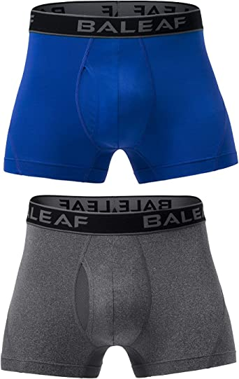 Amazon.com: BALEAF 3 Inches Men's Active Underwear Sport Cool Dry  Performance Boxer Briefs with Fly (2-Pack): Clothing