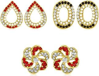 Sukkhi Copper Stud Earrings for Women (Golden) (CB70127GLDPD550)