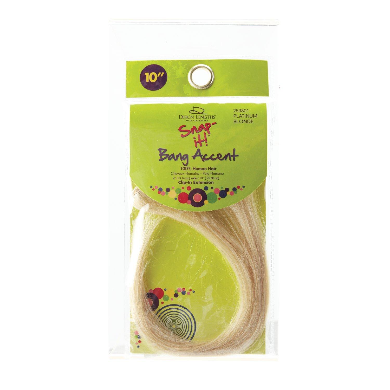 Amazon Design Length Snap It 10 Inch Clip In Human Hair Bang