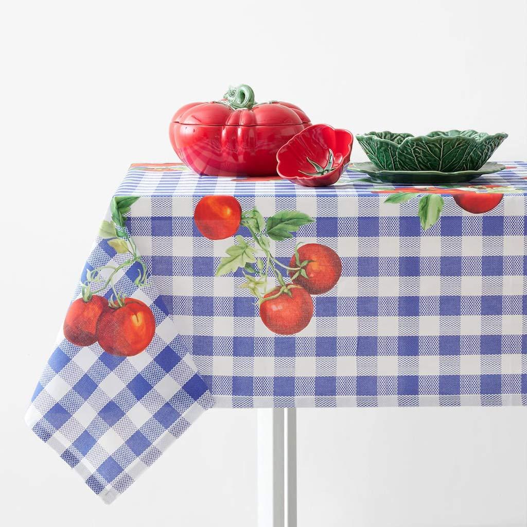 テーブルクロス、北欧布トマト市松模様のテーブルクロス長方形のコーヒーテーブル、ビュッフェテーブル、パーティー、ホリデーディナーに最適、ウェディング&その他 59.05*88.5 in  B07RZSSMRG