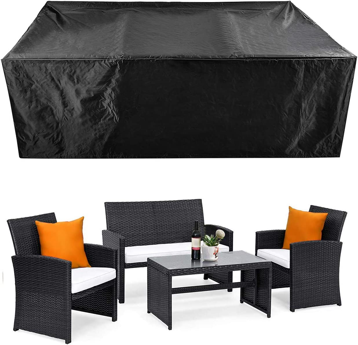 Patio Furniture Set Cover Outdoor Sectional Sofa Set Covers Outdoor Table And Chair Set Covers Water Resistant 78 L X 62 W X 30 H Garden Outdoor