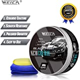 WEICA Car Wax Black Solid for Black Cars, Carnauba Car Wax Kit Cleaner, Car Waxing Scratch Resistance Auto Ceramics…