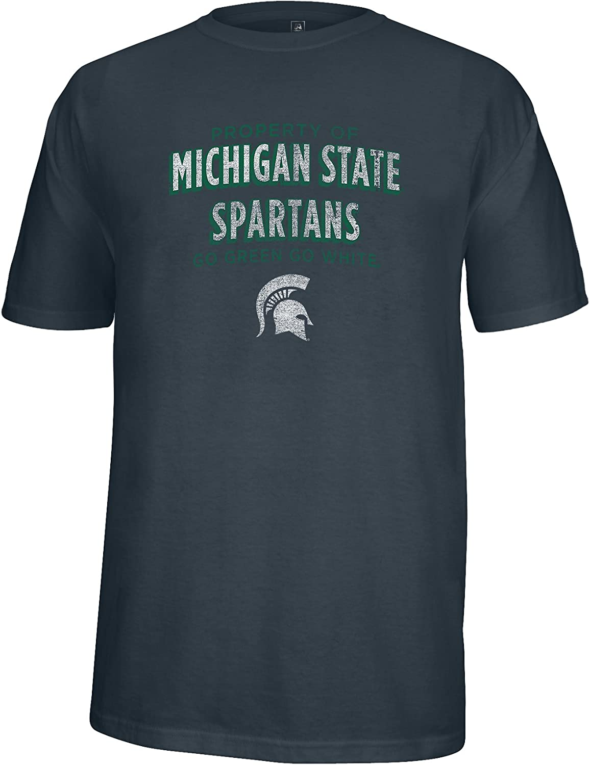 J XX-Large Charcoal Heather America NCAA Michigan State Spartans Mens Property of Heathered Flex Tee