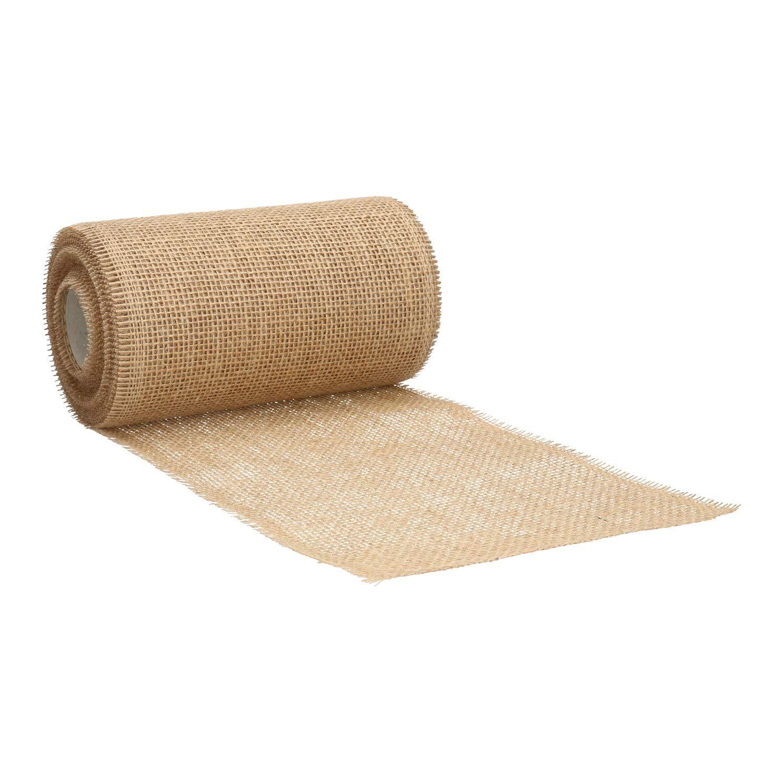 cinta de mesa decorativa marr/ón r/ústico rollo de 10m yute suave natural 20cm//30cm de ancho Cinta de yute camino de mesa