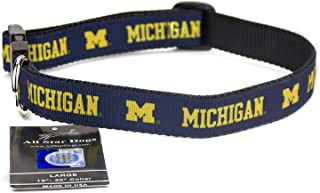 product image for All Star Dogs Michigan Wolverines Ribbon Dog Collar