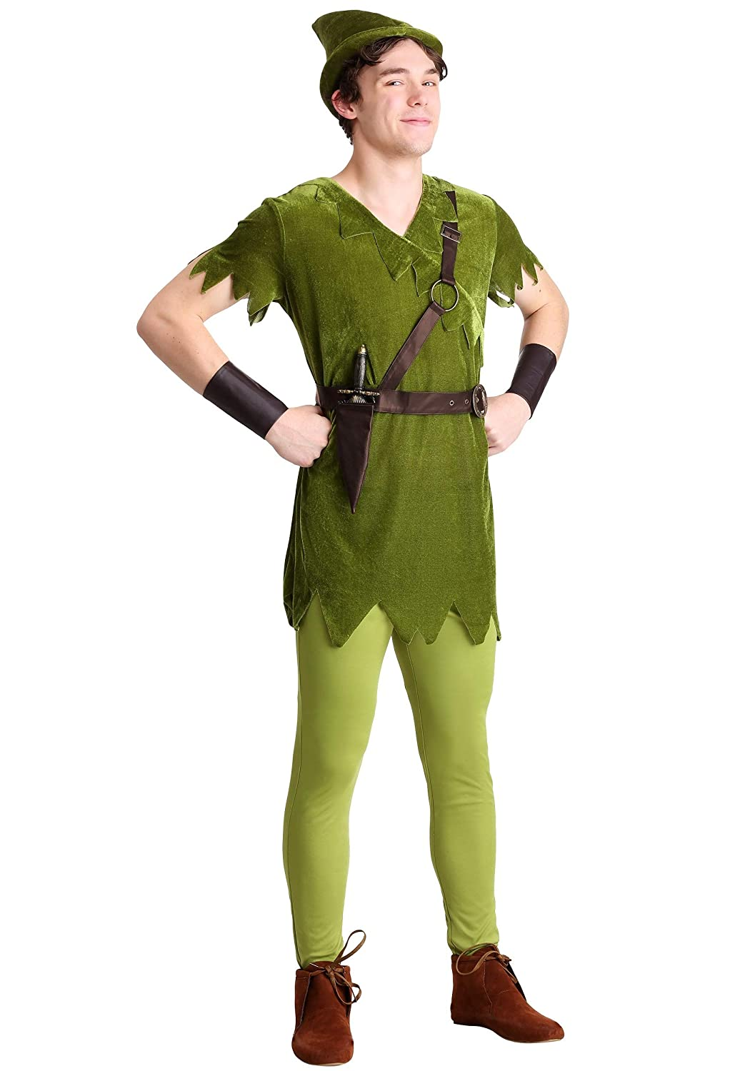 Adult Classic Peter Pan Fancy Dress Costume Large: Amazon.es ...