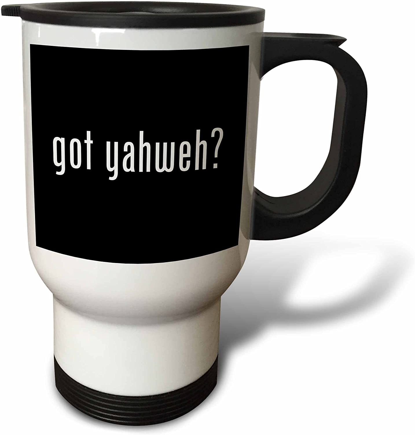Amazon Com 3drose Got Yahweh Travel Mug 14 Ounce Stainless Steel Kitchen Dining