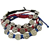 Amazon Price History for:Saint Benedict Evil Protection Medal on Adjustable Cord Bracelet, Set of 3, 8 Inch