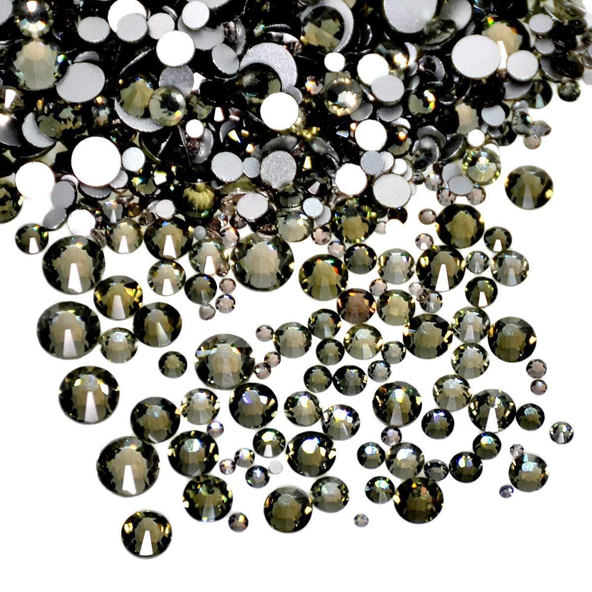 (Black Diamond 04) - AD Beads 1440pcs Mixed Size Non Hotfix Quality Rhinestones Flatback Nail Art Pick Colour (Black Diamond 04)  Black Diamond 04 B07171Z53W