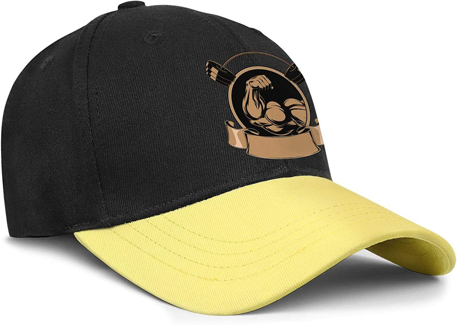 Mens Fitted Snapback Hats Golds Gym Bodybuilding Weight Womens Sun Flat Hat