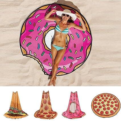 Toalla Donuts Para La Playa,Ideal Como Tapiz/Mantel #3