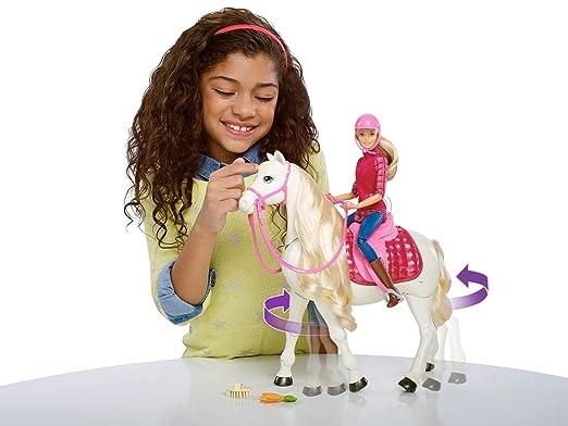 Amazon.es: Barbie Caballo Súper Interactivo con muñeca (Mattel FRV36): Juguetes y juegos