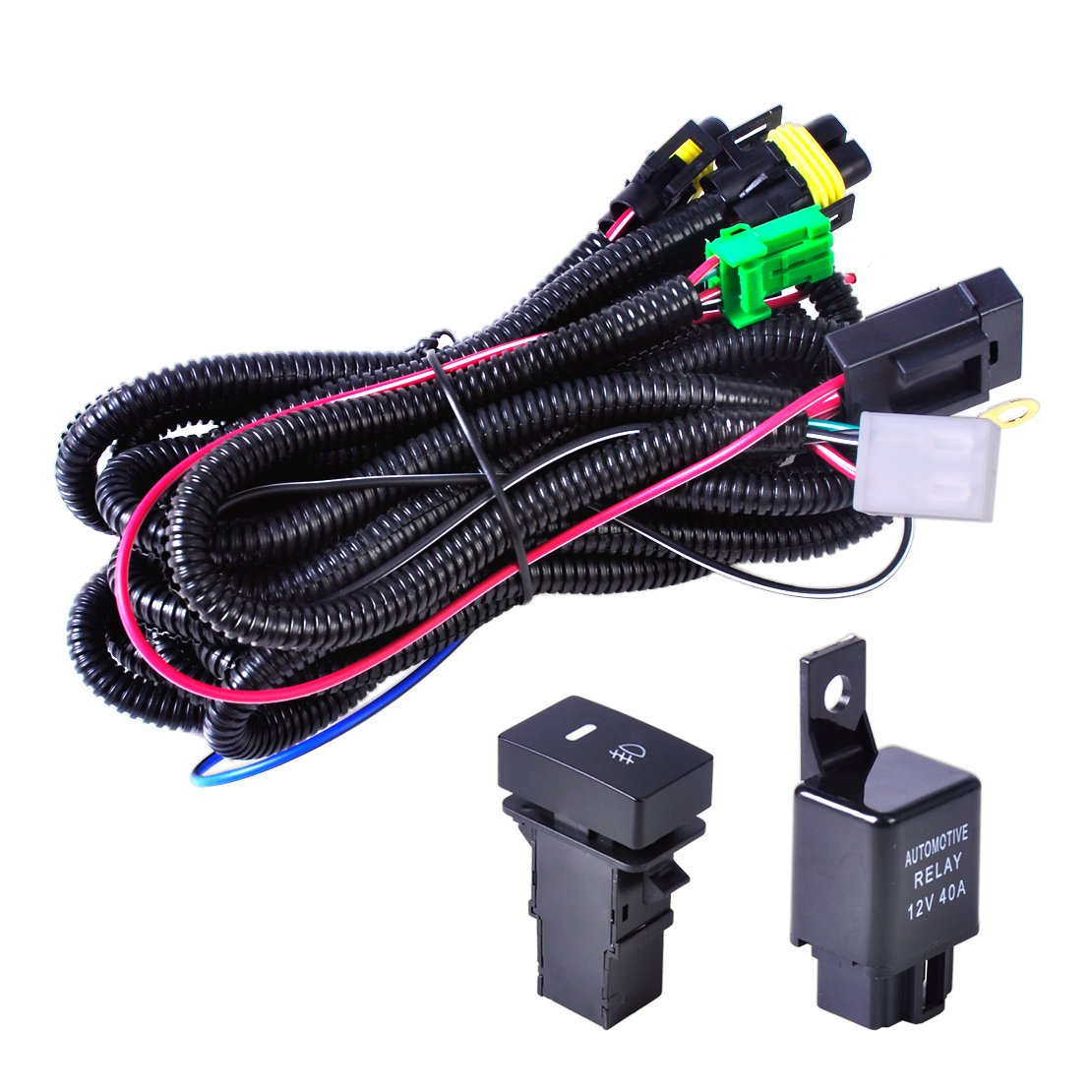 Beler H11 Fog Light Lamp Wiring Harness Sockets Wire For Nissan Murano Switch Kits Ford Infiniti Honda Lincoln Acura Automotive