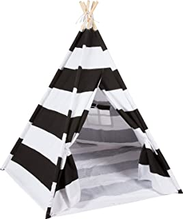 DalosDream Teepee Tent for Kids-100% Cotton Canvas Kids Play Tent-Black  sc 1 st  Amazon UK & Vaiigo Cotton Canvas Kids Teepee Children Play Tent with Carry ...