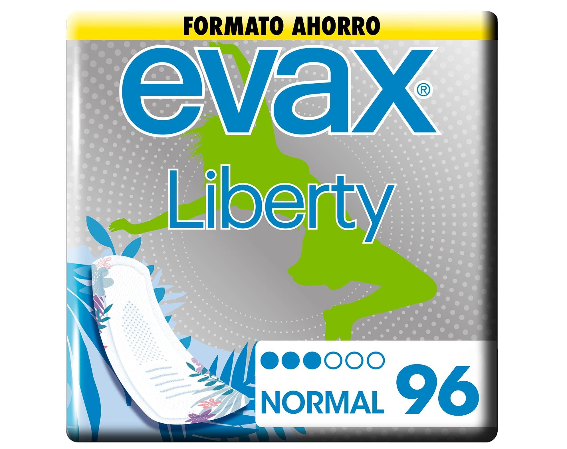 Evax Liberty Normal, x 96 Unidades Una Compresa Que No Notarás