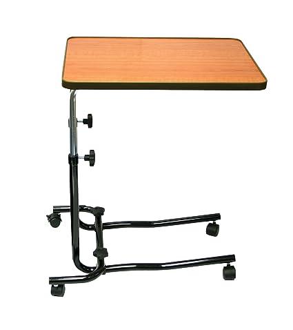 Patterson Medical - Mesa abatible de 4 ruedas para cama