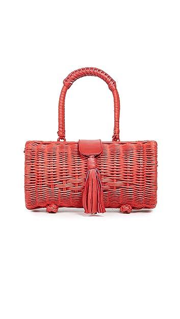 26497b10e Cleobella Women's Clarissa Wicker Bag, Natural, Tan, One Size: Handbags:  Amazon.com