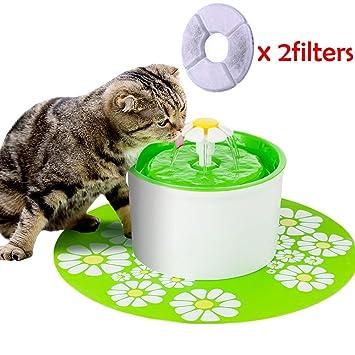 Leegoal Bebedero Gatos Perros Automático, Silenciosa Saludable Fuente de Agua para Gatos y Perros,