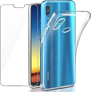 Leathlux Funda + Cristal para Huawei P20 Lite, Transparente P20 ...