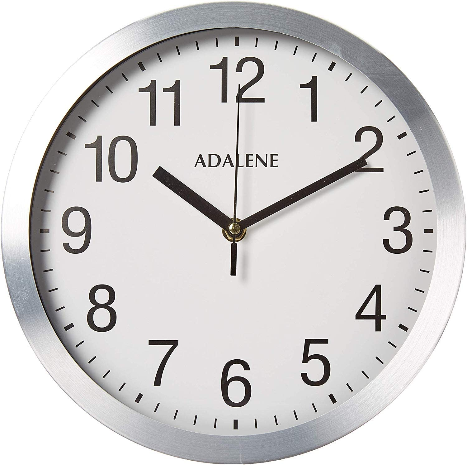 Adalene Modern Metal Wall Clock Silent 10 Inch Analog Wall Clocks Battery Operated Non Ticking White Face Aluminum Wall Clocks Decorative Living Room Décor Kitchen Bedroom Bathroom Office Amazon Ca Home