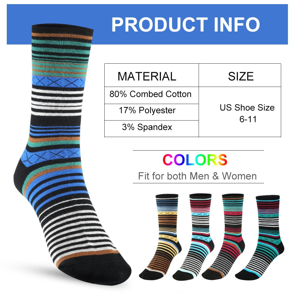 Tselected Women's Classic Dress Socks Colorful Warm Funny Casual Crew Vintage Style US Size 6-11 5 Pack by Tselected (Image #2)