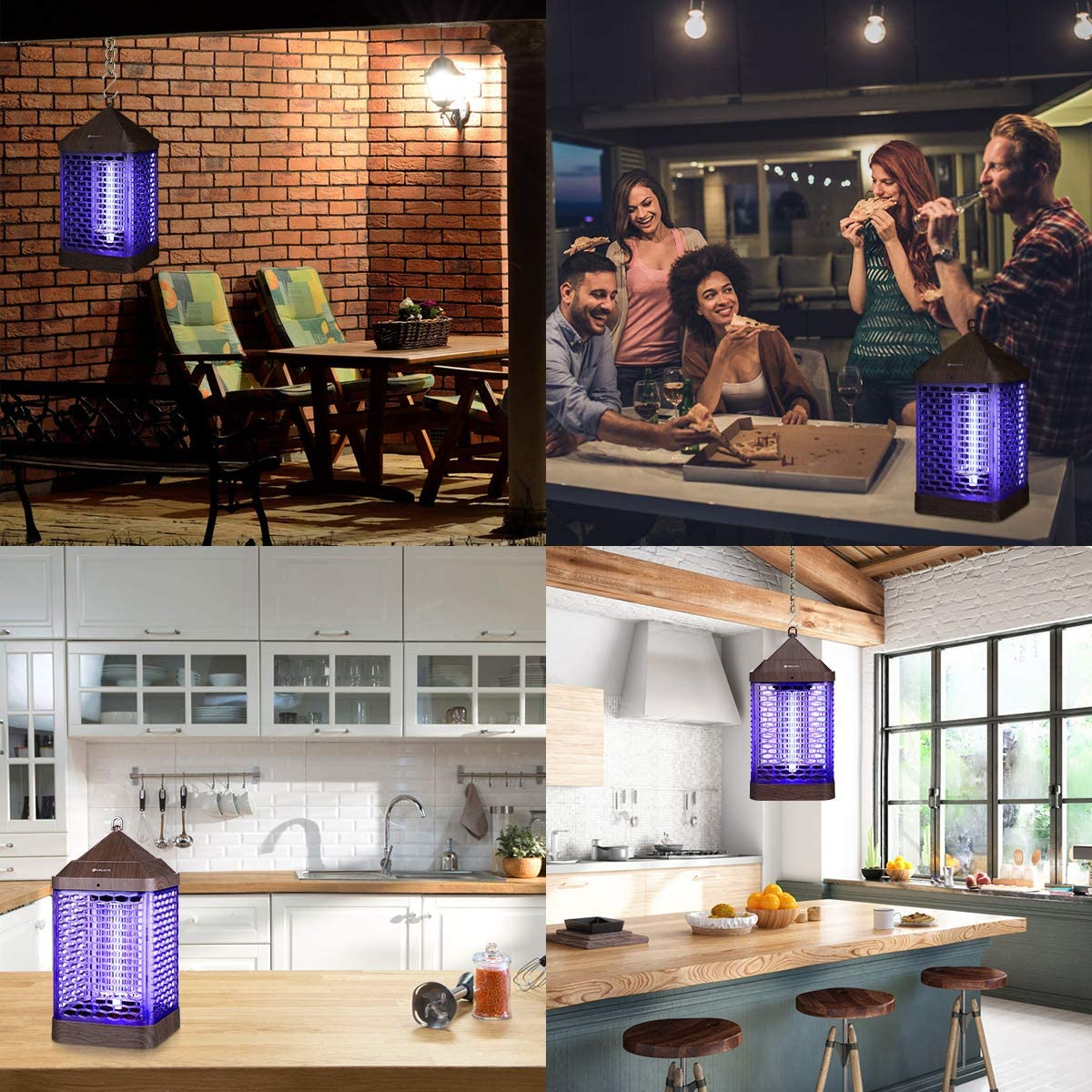 Upgraded 9W Electronic Bug Zapper Insects Killer Mosquito Lamp Insect Killer Zapper Fly Killer with UV Light for Indoor and Outdoor