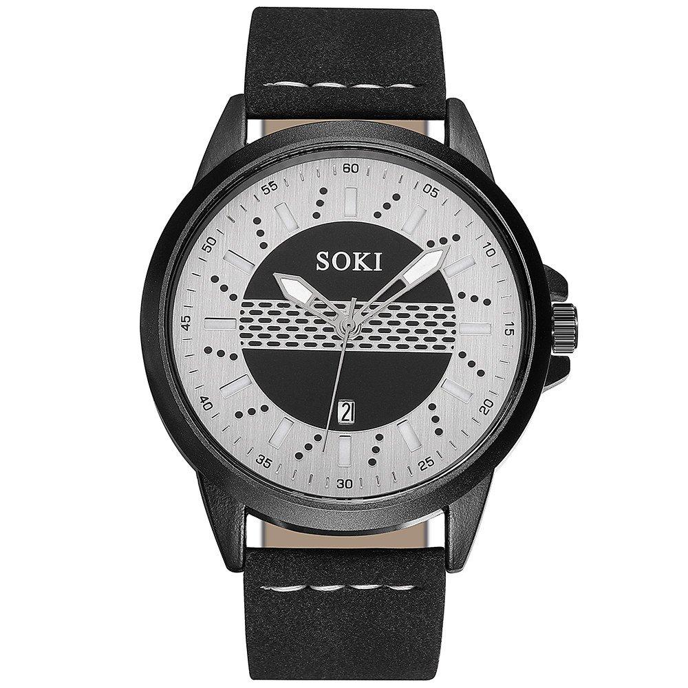 Couple Fashion Mens Analog Quartz Wrist Watch Classic Casual Watch with Nylon strap Round Wrist Watch Watches (White)