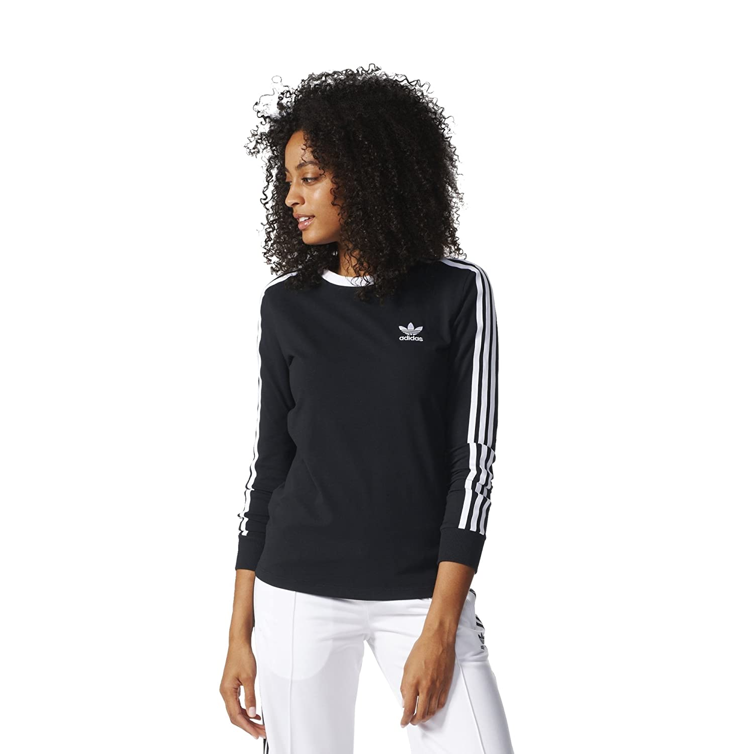 c216813dde436e adidas Originals Women s Originals 3 Stripes Long sleeve Tee at Amazon  Women s Clothing store
