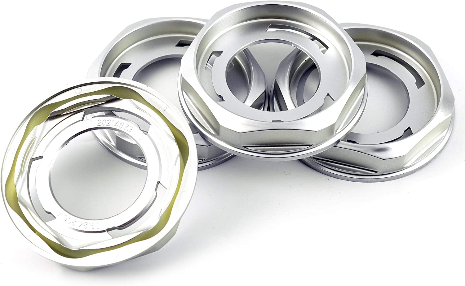 Silver ABS Wheel Center Hup Caps for BBS 4pcs 102mm 4in