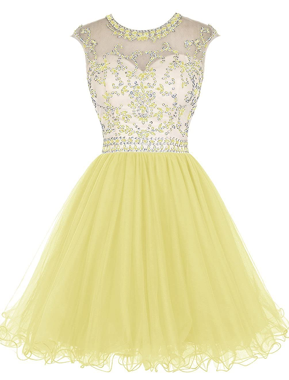 Dressesonline Womens Beading Prom Dresses Short A-line Homecoming Dresses