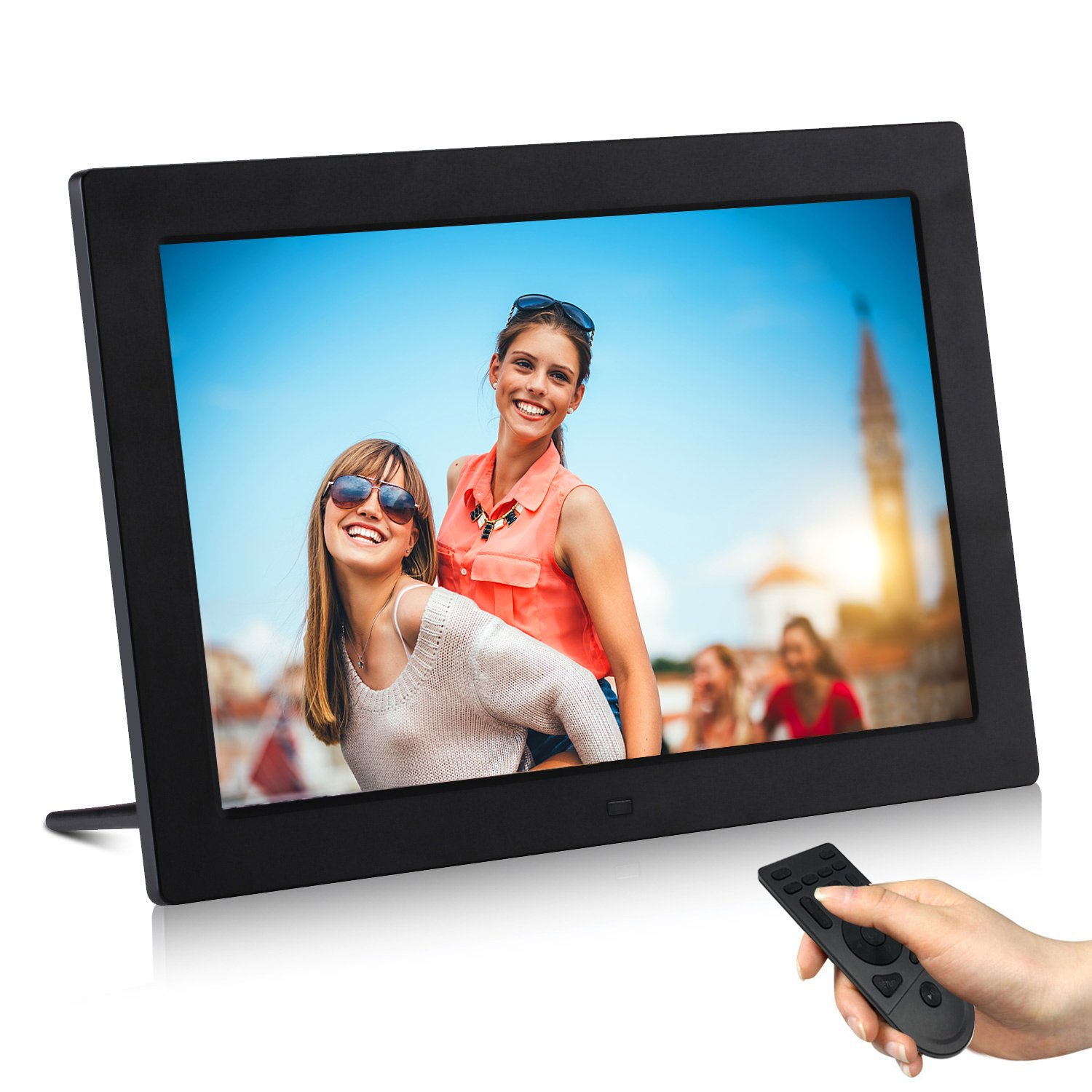AKImart 13.3 inch Digital Picture Frame 1280x800 support HDMI MP3 Video & Music Playback Calendar Photo Frames with Remote Control (Unique UI Surface)
