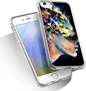 KSTYLE iPhone SE 2020 Case iPhone 7 Case iPhone 8 Case Clear Slim Fit Cute Phone Case for Girls Woman Compatible for Apple 4.7 Inches Makeup Black