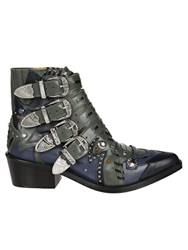 c53be154505 TOGA PULLA Femme Aj875khakileathermix Vert Cuir Bottines  Amazon.fr ...