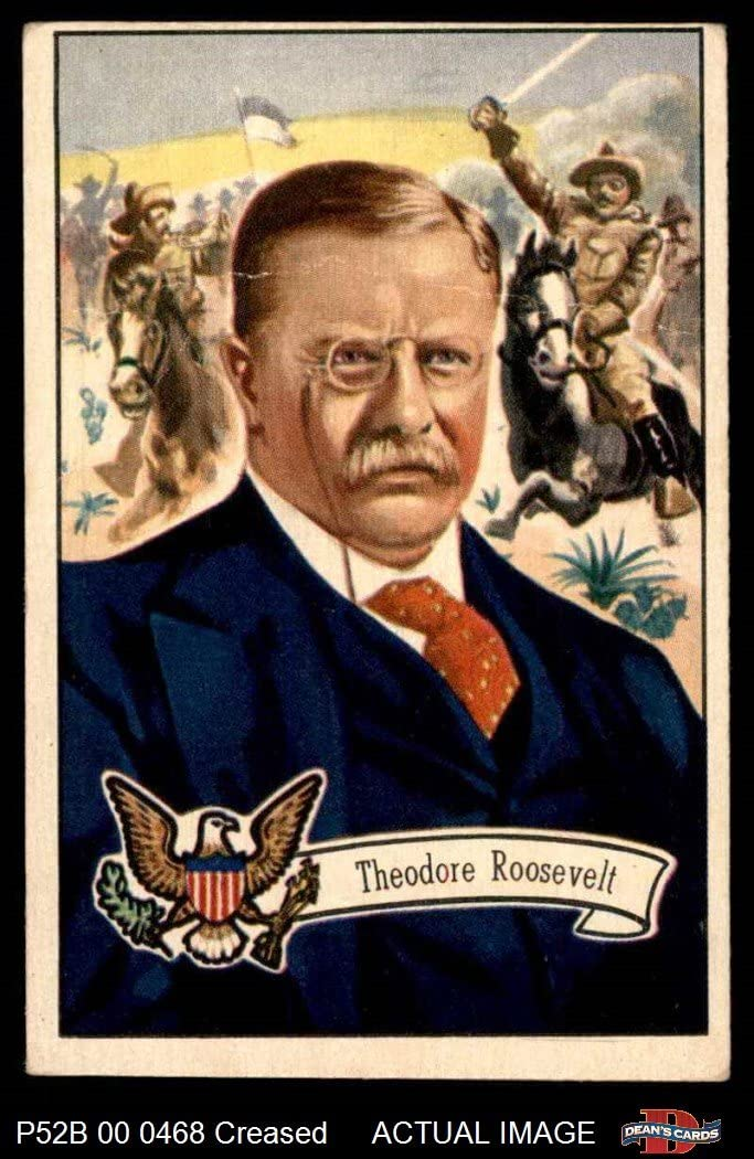 1952 Bowman U.S. Presidents # 28 Theodore Roosevelt (Card) Dean's Cards 3 - VG