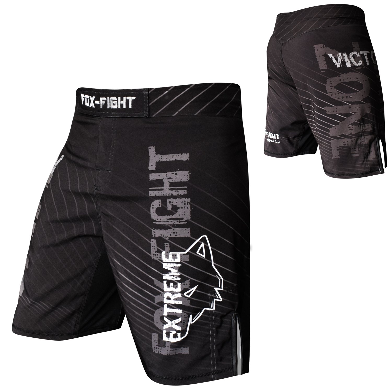FOX-FIGHT Extreme MMA Fight Pantalon Short Muay Thai Kick Boxe Arts Martiaux UFC Training