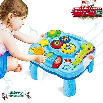 ACTRINIC Table d étude Musicale Jouet pour Les bébés de 6 à 12 Mois Jouet 3717c328a0f