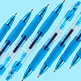 M&G NEW R1 Retractable Blue Gel Ink Ballpoint Pens, 0.5mm Fine Point Roller Ball Pens Set, 12-Count, (AGP02376)