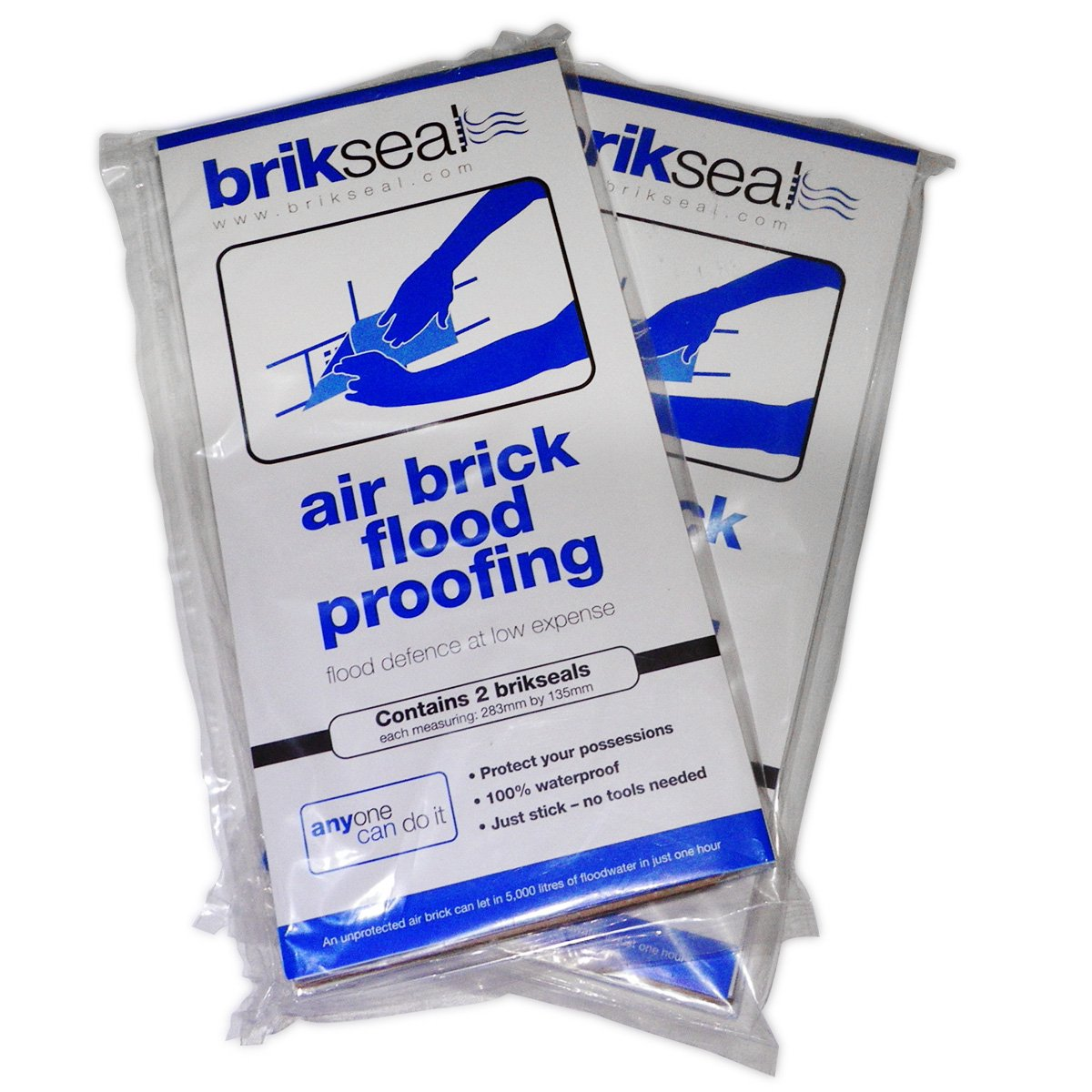 Brikseal Temporary Air Brick Seal (Pack of 2) Not applicable
