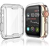 [2 件装] 适用于 Apple Watch Series 4 屏幕保护膜,44 毫米,2018 新款 iWatch *保护壳 TPU 高清超薄手机壳,适用于 Apple Watch Series 4 (44 mm)5962865147